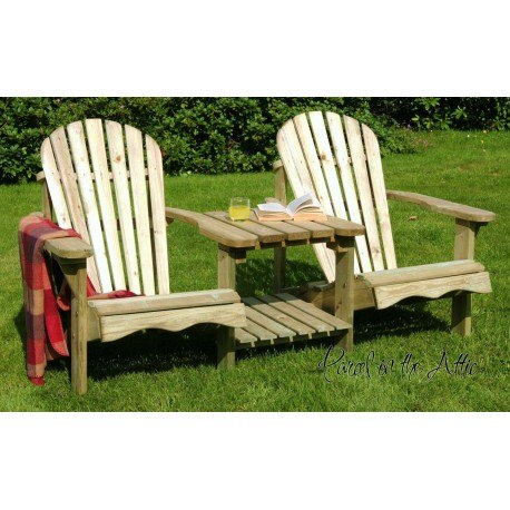 Solid wood Adirondack Double Chair via Parcel in The Attic