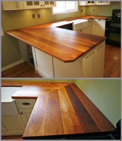 reclaimed wood countertops via HAIR SUBLIME