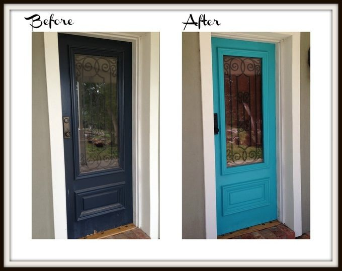 Front Door: Before & After via  FOR THE LOVE CREATIONS
