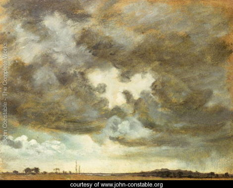 A Cloud Study by John Constable via John Constable