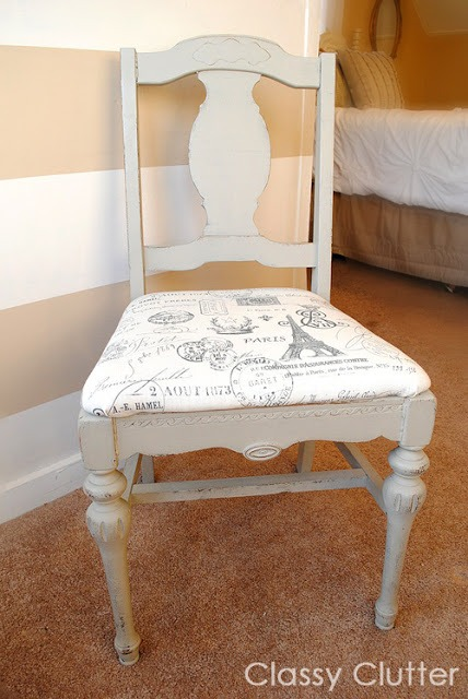 Antique chairs DIY Chalk Paint via ClassyClutter