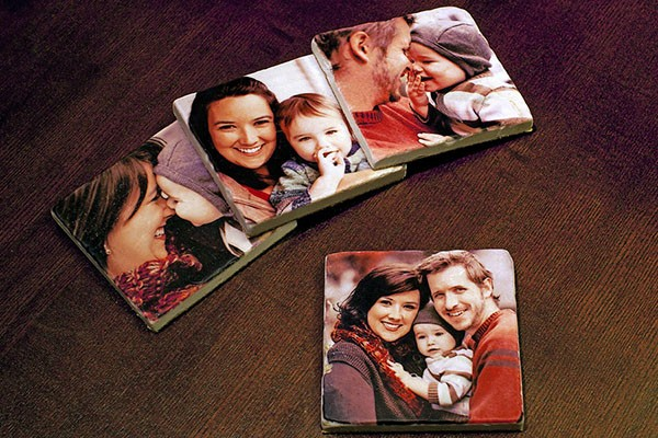 On Custom 4x4 Tile Coasters via ZAZA GALLERY