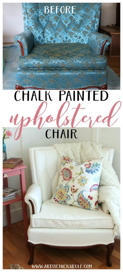 Chalk painted couches via Artsy Chicks