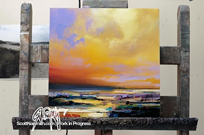 OIL ON DIBOND ALUMINIUM. AFTER STAGE 2 via SCOTT NAISMITH