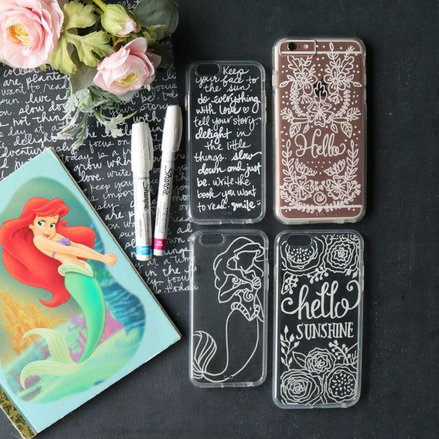 DIY hand lettering on cell phone case via MAKE ful