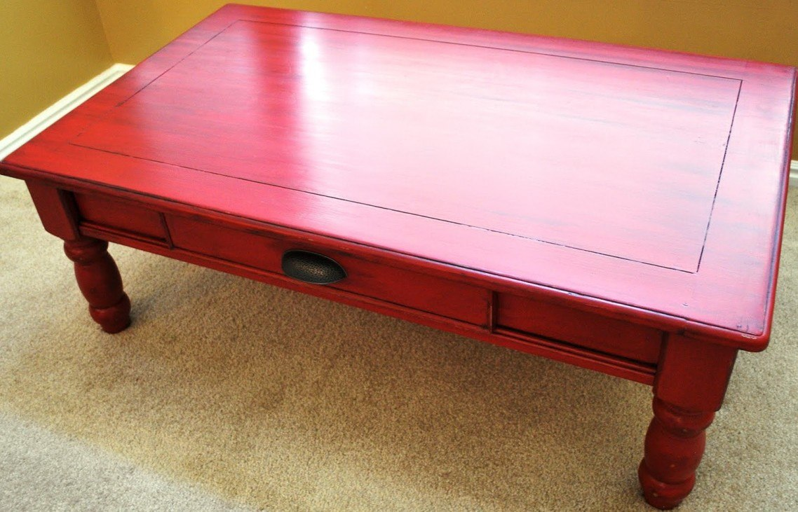 33 chalk paint furniture ideas simple and attractive for Painted coffee table ideas