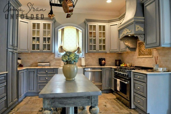 Painting Kitchen Cabinets with Chalk Paint® via Brocante Home