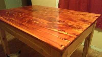 Juniper Table Restoration with Teak Oil via Lumber Jocks