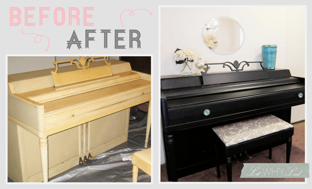 CRAIGSLIST PIANO MAKEOVER via LET WHY LEAD