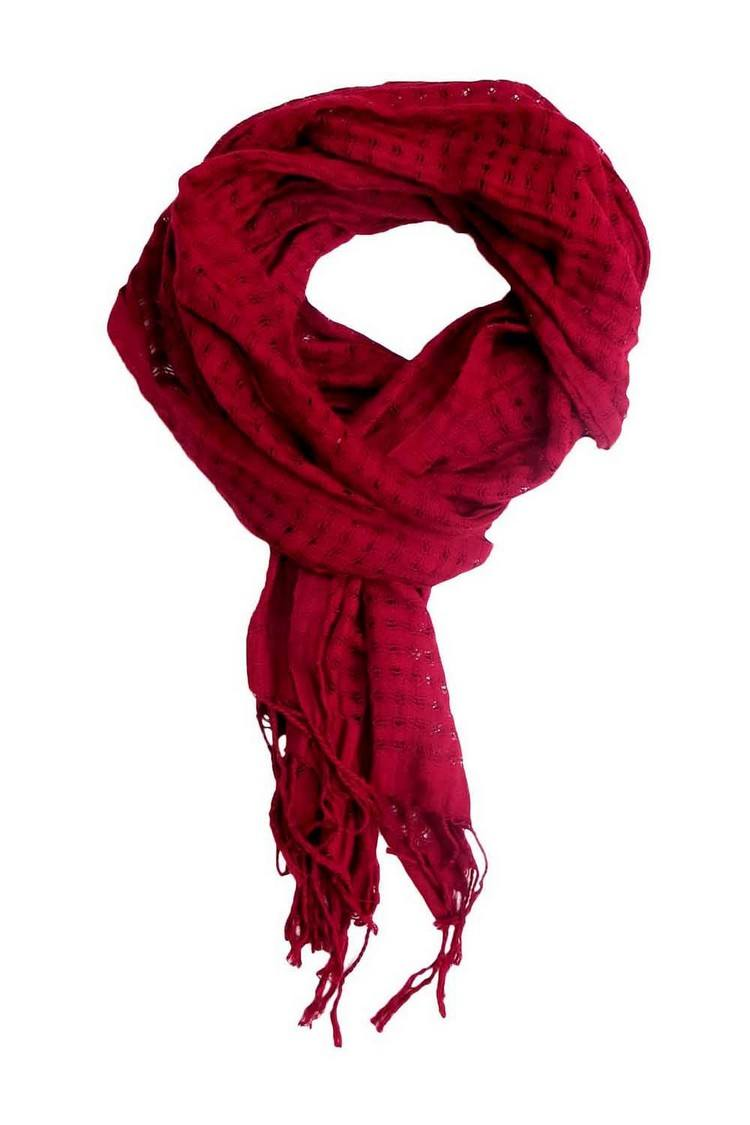 A Red Romantic Scarf