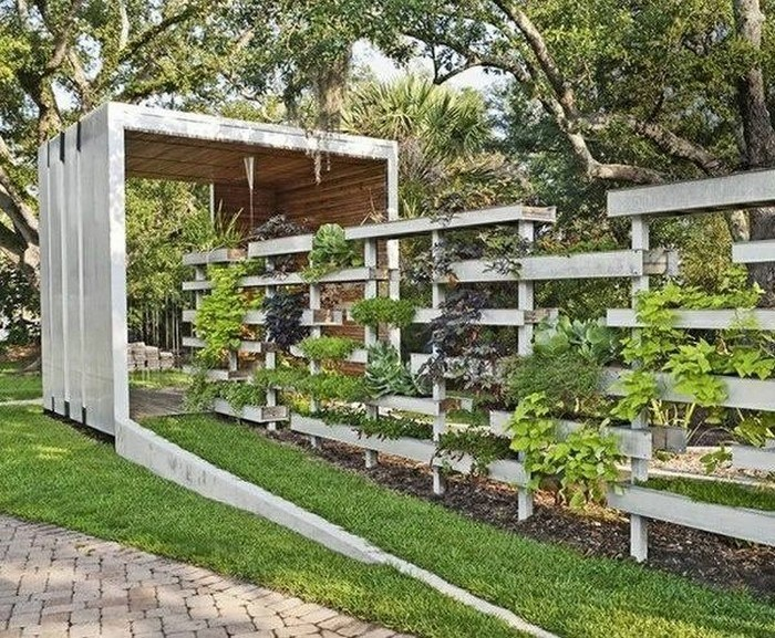 Modern Design Garden Wood Pallet Fence