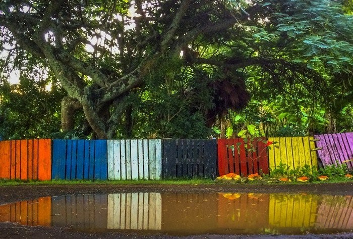 Colorful Garden Fences