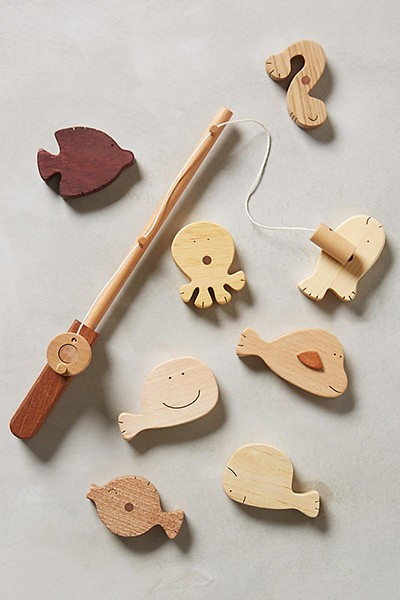 Wooden Fishing Kit via Anthropologie