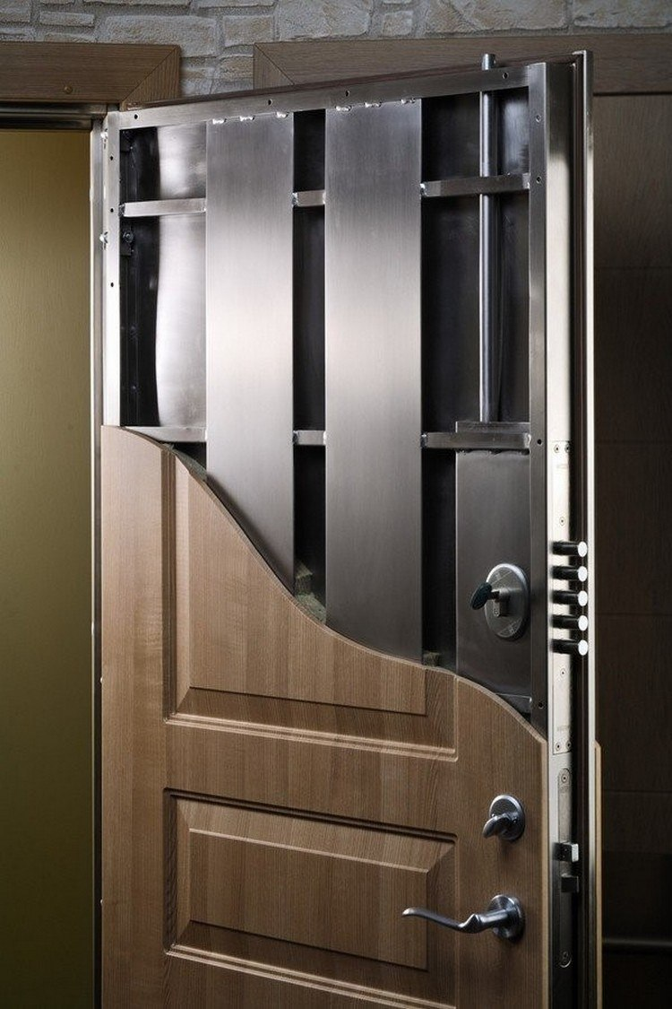 A steel door with highly advanced security system