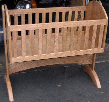 Cherry Baby Cradle via LumberJocks