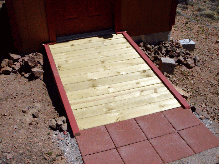Wood Shed Ramp via thoughts from arealdeal