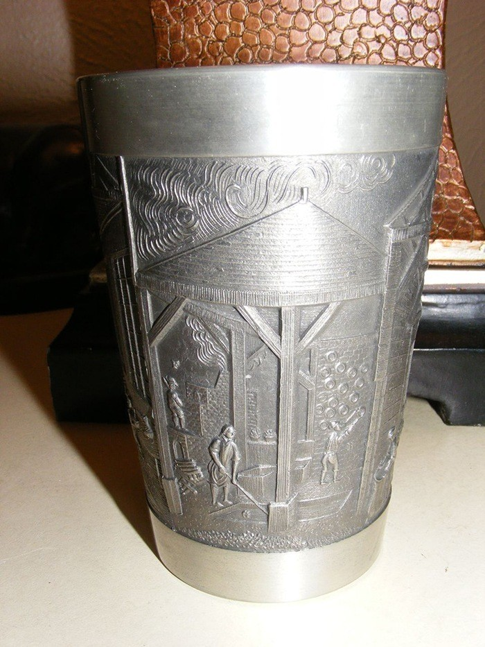 Vintage Pewter Cup via RUBY LANE
