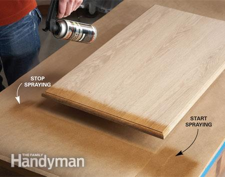 Start the spray off the edge via THE FAMILY HANDYMAN