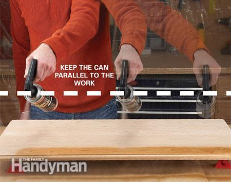 Keep the spray tip parallel to the surface via THE FAMILY HANDYMAN
