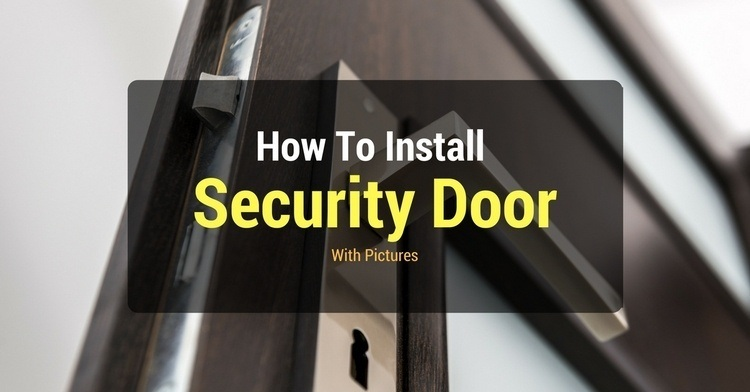 How to install security door