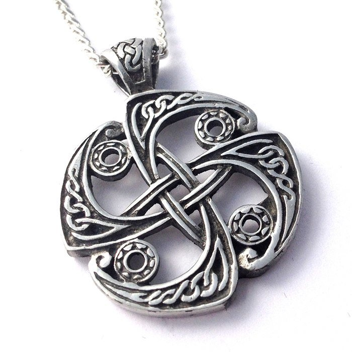 Pewter Celtic Weave Pendant Necklace via Welshsuperstore