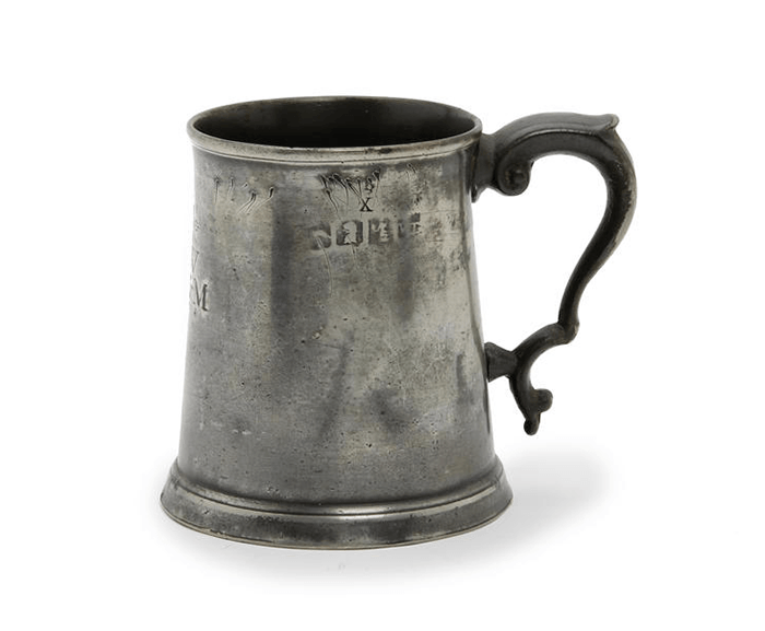 PRE-IMPERIAL PEWTER PINT MUG via Silodrome