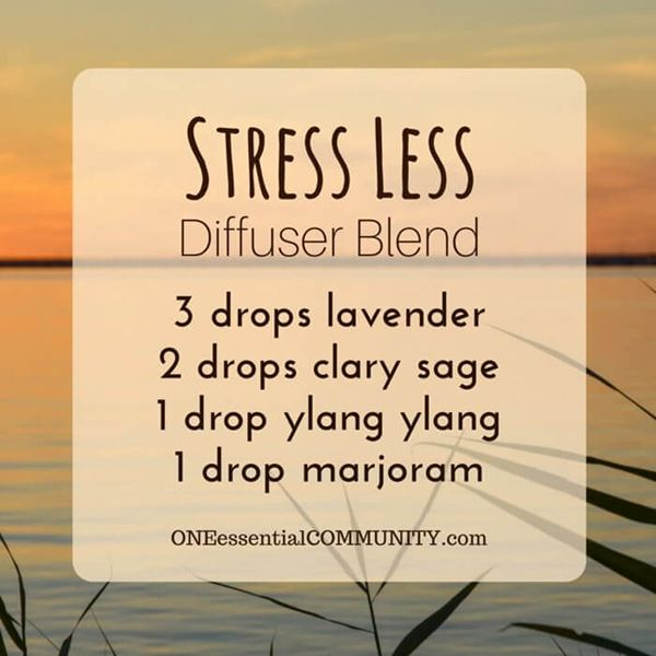"""Stress Less"" calming diffuser blend via ONE essential COMMUNITY"