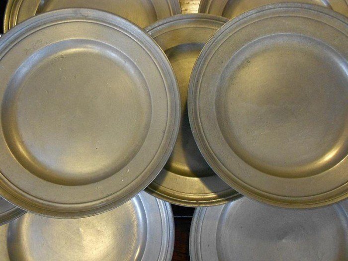 Pewter Plates via Mytton Antiques - Jerrard Nares