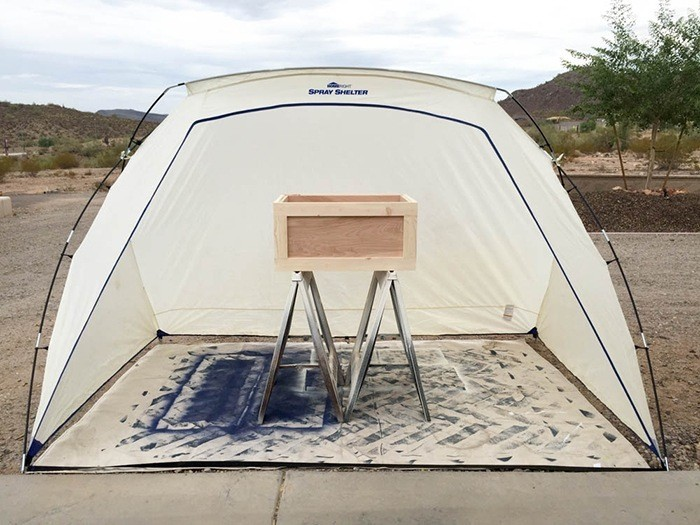 HomeRight Spray Shelter via Addicted 2 DIY