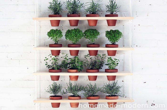 DIY Hanging Garden via HomeMade Modern