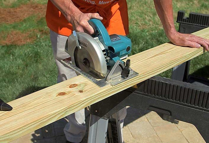 CUT THE TABLE SLABS via THE HOME DEPOT