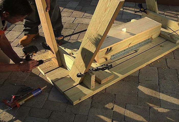 CLAMP THE TABLE LEGS via THE HOME DEPOT