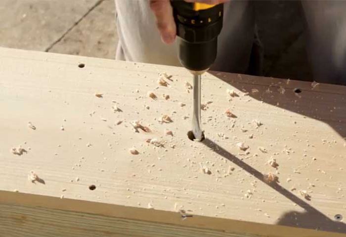 DRAW A CURVED EDGE ON ENDS OF TABLE via THE HOME DEPOT