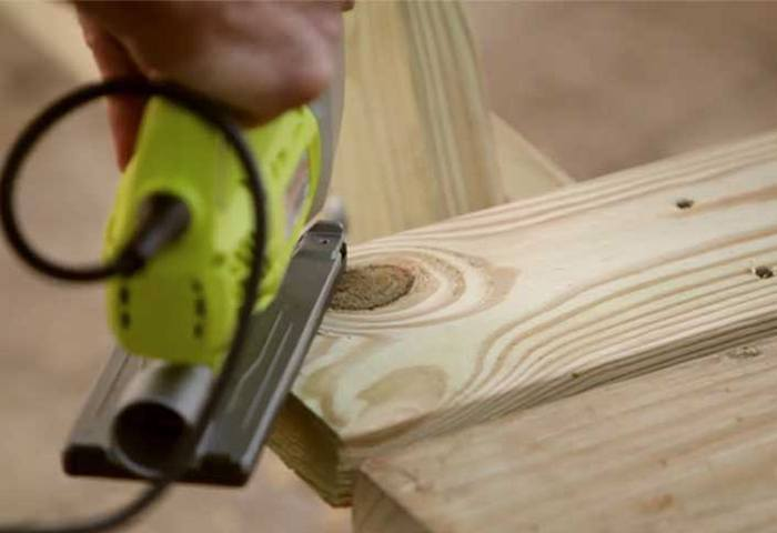 CUT THE CURVED EDGES OF THE TABLETOP via THE HOME DEPOT