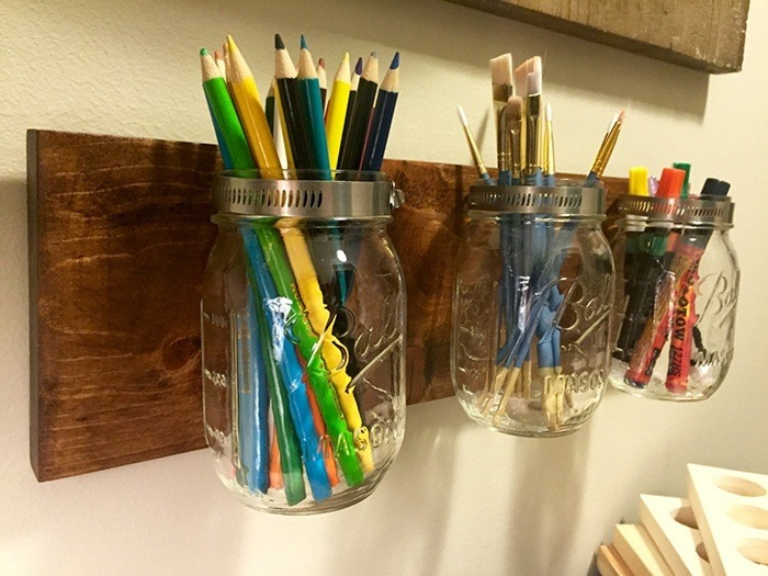 Mason Jar Holder via Etsy