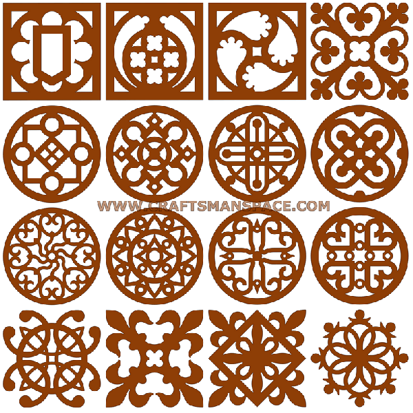 Scrollsaw Coaster Patterns via Craftsmanspace