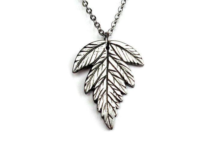 Sweet Cicely Pendant Necklace, Handmade Herb Jewellery in Pewter via farjil