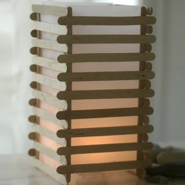 A Japanese Lantern made from Lolly Stick Slats via Creativ Company