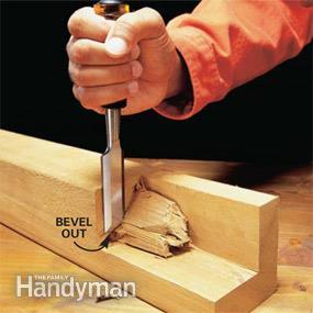 remove chunk of wood