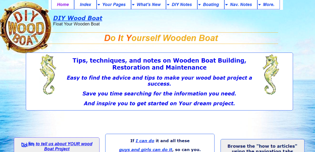 DIY wood-boat