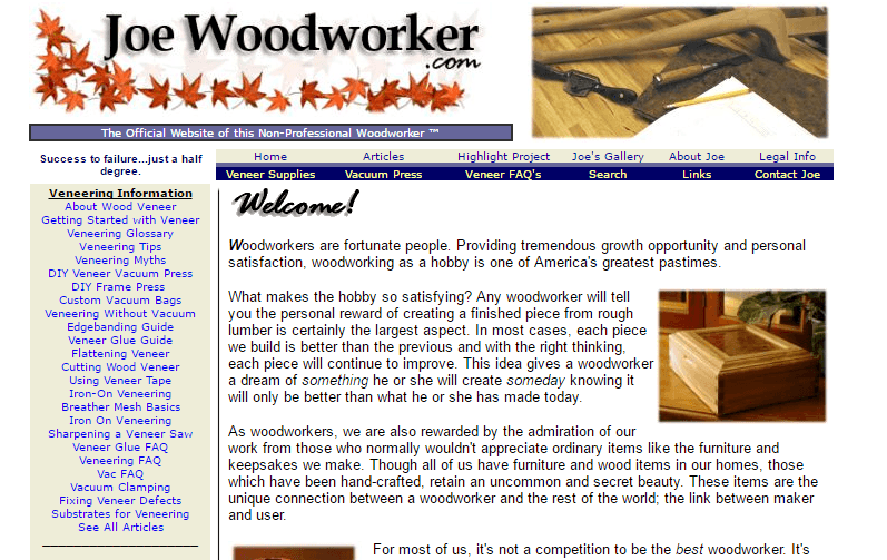 Joe Woodworker