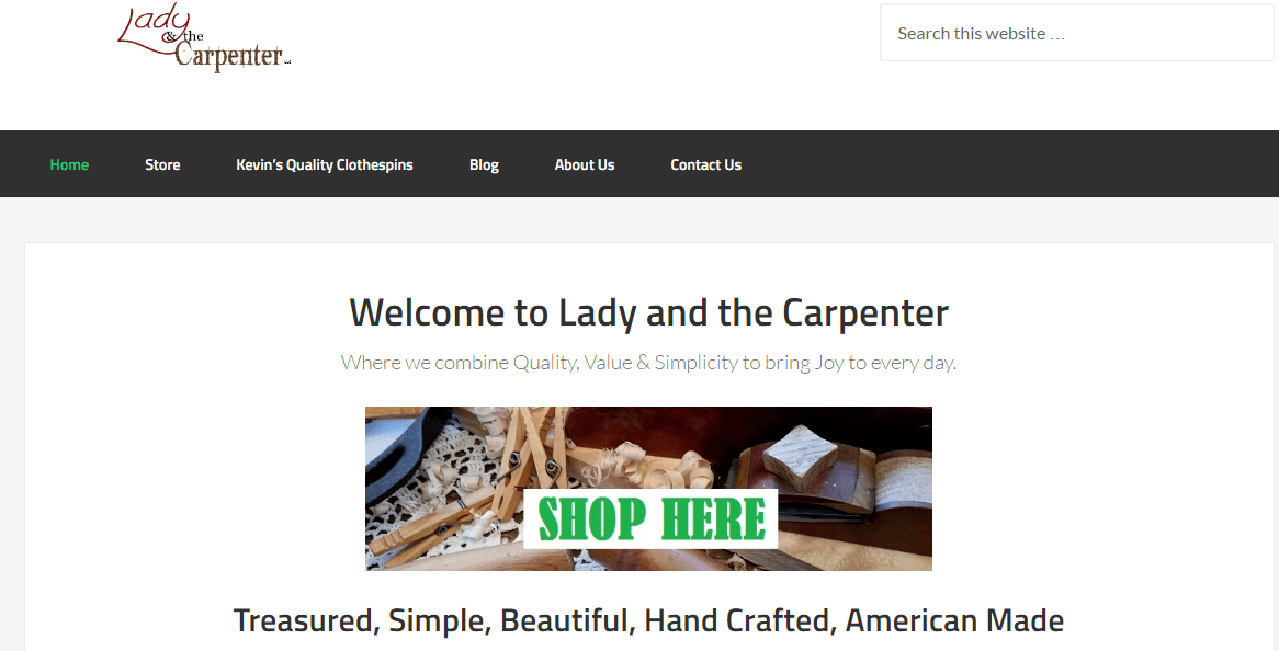 Lady and the Carpenter