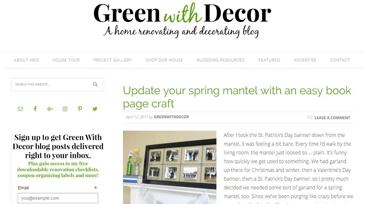 Green with Décor