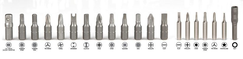 Types Of Screwdriver Bits via Types Of Screwdriver Bits