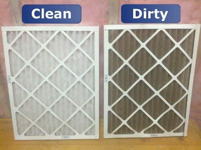 clean dirty central air filter via Eco Clean Madison