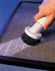 Cleaning HEPA Pure Air Filters via WEB Products