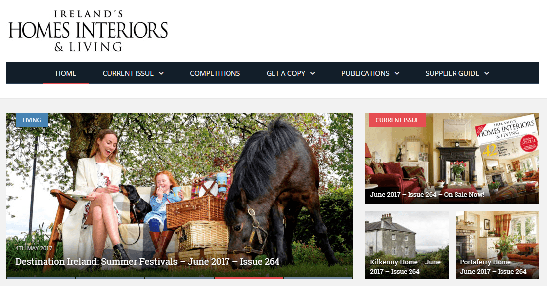 Ireland's Homes Interiors and Living