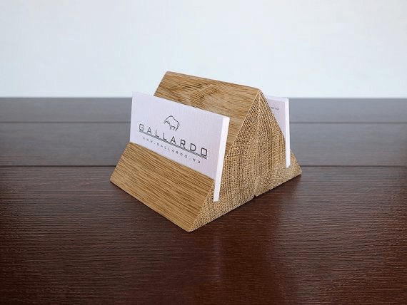 Business Card Holder via MagoWood
