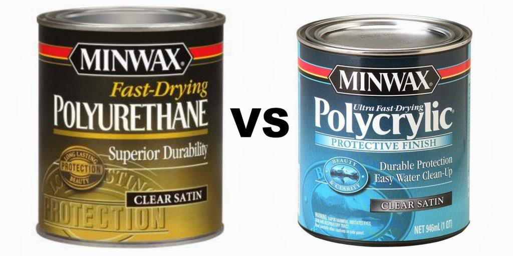 polyurethane vs polyacrylic comparision via Two It Yourself